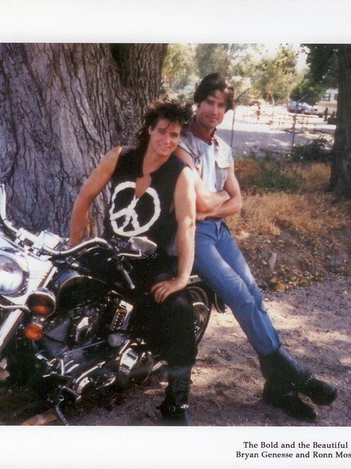 Bryan Genesse - The Bold and The Beautiful - Motorcycle - 8X10
