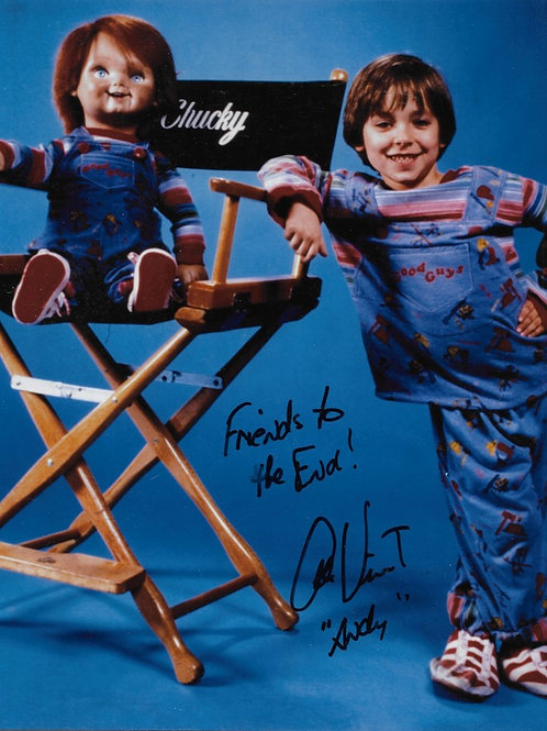 Alex Vincent signed 8X10 Director's Chair