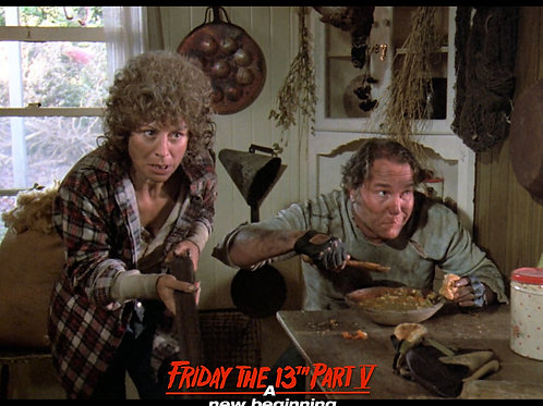 Carol Locatell and Ron Sloan Friday the 13th Part 5 - Shotgun 8X10