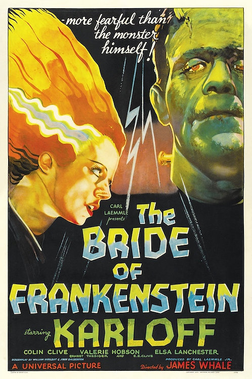 "Bride of Frankenstein 24""X36"" Poster"