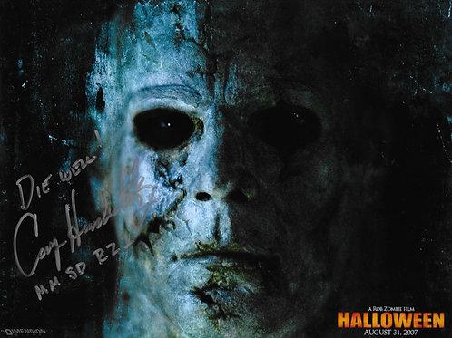 Casey Hendershot signed 8X10 Rob Zombie Halloween Closeup