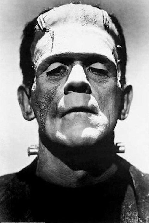 """Frankenstein Black & White 24""""X36"""" Poster"""