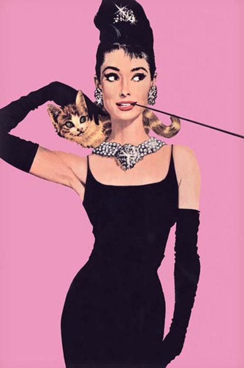 """Audrey Hepburn Pink 24""""X36"""" Poster"""