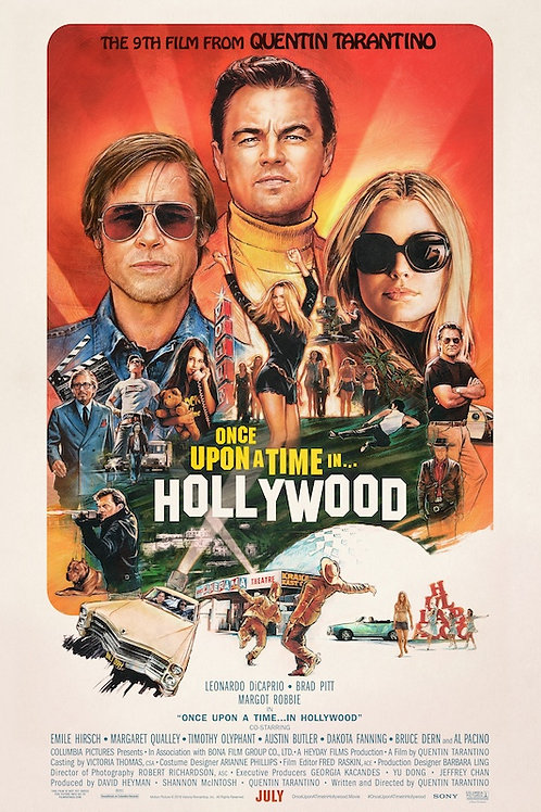 """Once Upon a Time in Hollywood 24""""X36"""" Poster"""