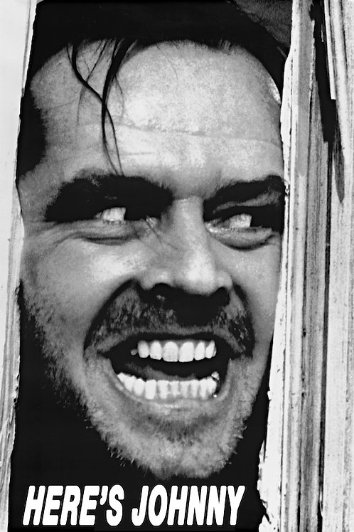 "The Shining Here's Johnny 24""X36"" Poster"