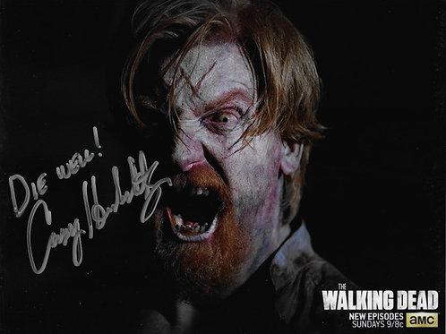 Casey Hendershot signed 8X10 The Walking Dead Wolf