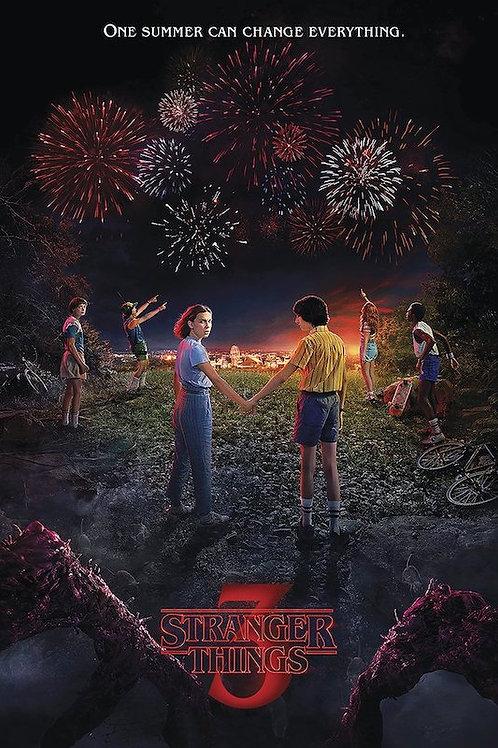"""Stranger Things 3  24""""X36"""" Poster"""