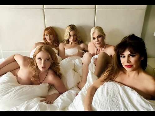 Darcy DeMoss - The Onania Club - Group in Bed - 8X10