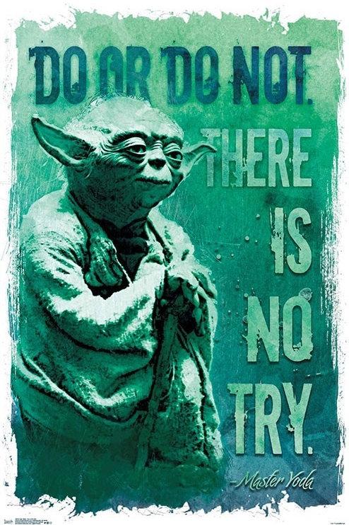 "Star Wars Yoda Do Or Do Not 22""X34"" Poster"