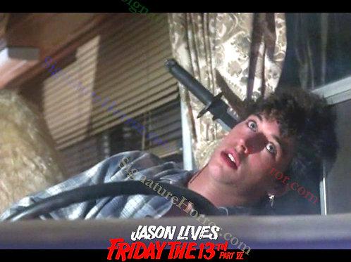 Tom Fridley - Jason Lives: Friday the 13th Part VI - Knife in Head - 8X10