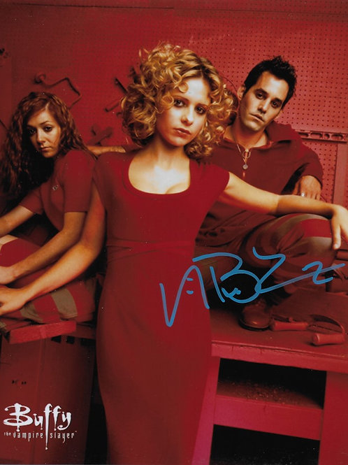 Nicholas Brendon signed 8X10 with Buffy and Willow