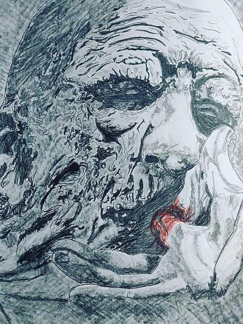 John Dugan - The Texas Chainsaw Massacre - Finger Sucking - Art by 8.5X11