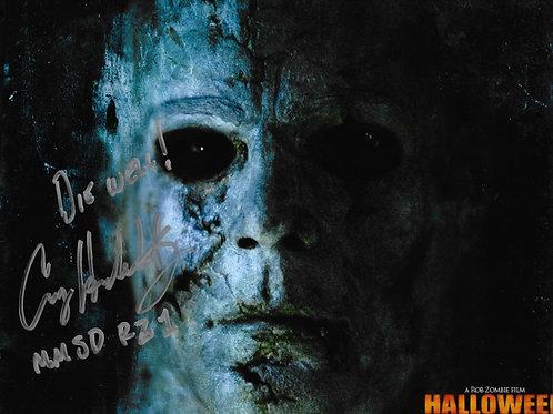 Casey Hendershot signed 8X10 Rob Zombie Halloween Closeup 2