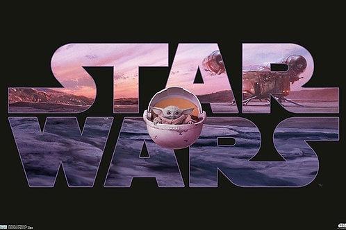 "Star Wars Baby Yoda Pod 22""X34"" Poster"