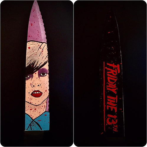 Tiffany Helm Signed Knife with Part 5 Artwork