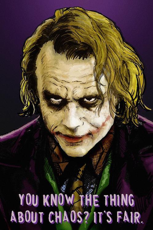 "Heath Ledger Joker Chaos 24""X36"" Poster"