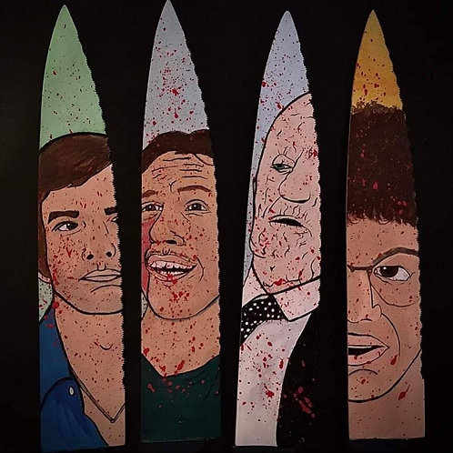 Multiple Signed Knives with Artwork