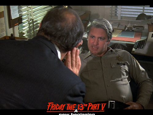 Marco St John as Sheriff Tucker Friday the 13th Part 5 - with Mayor 8X10