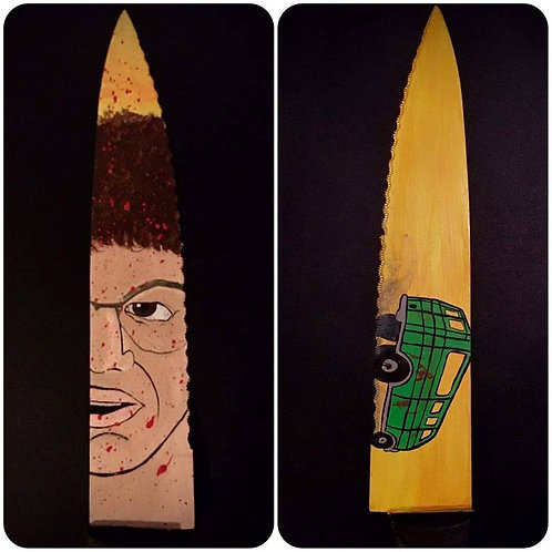 Allen Danziger Signed Knife with Texas Chainsaw Massacre Artwork