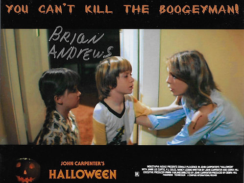 Brian Andrews signed 8X10 You Can't Kill The Boogeyman