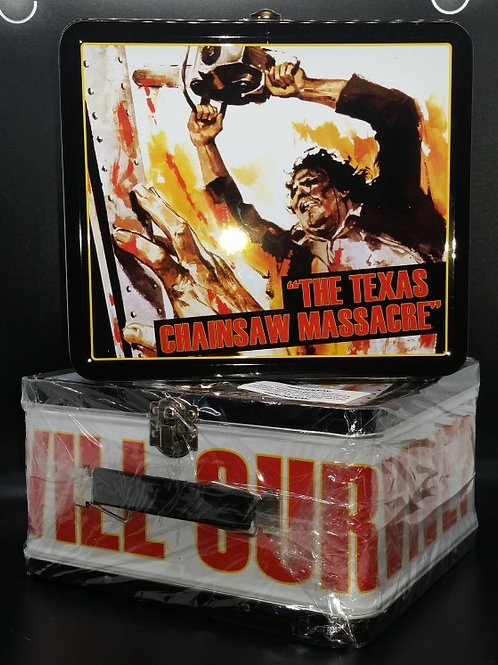 The Texas Chainsaw Massacre Metal Lunchbox - Chainsaw Dance - Signed by up to 4