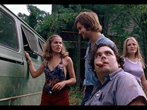 Teri McMinn - The Texas Chainsaw Massacre - With Kirk, Franklin, Sally - 8X10