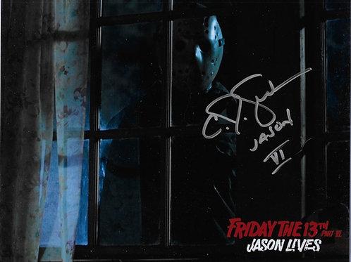 C.J. Graham signed 8X10 Outside Window