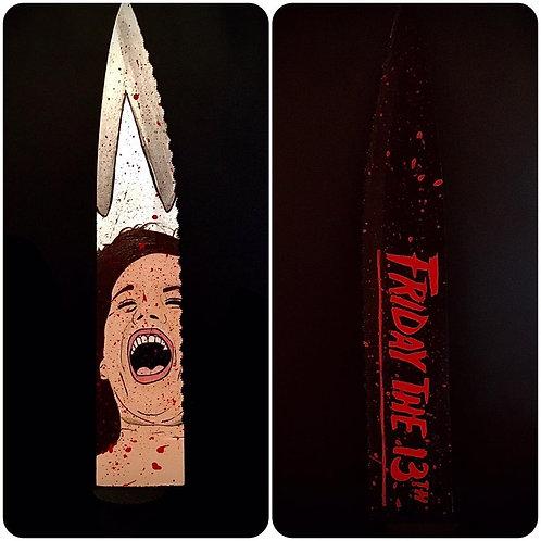 Deborah Voorhees Signed Knife with Part 5 Artwork