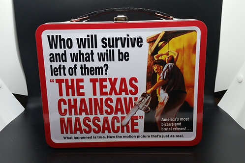 The Texas Chainsaw Massacre Metal Lunchbox - Poster Design - Signed by up to 4