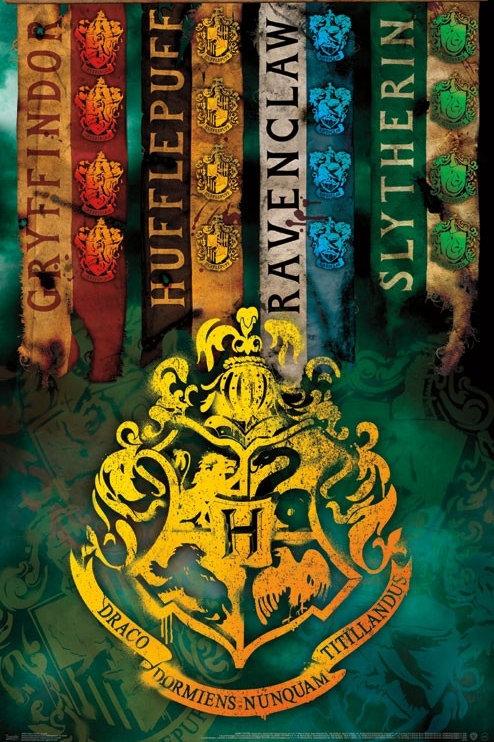 """Harry Potter Hogwarts Crests 22""""X34"""" Poster"""