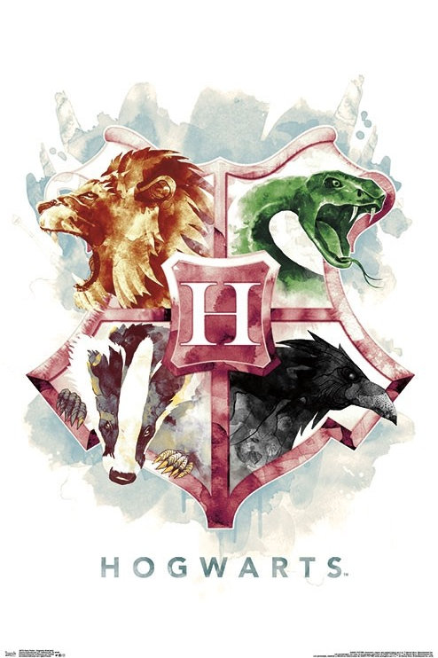 """Harry Potter Hogwarts Illustration 22""""X34"""" Poster"""