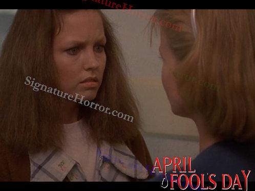 Deborah Foreman - April Fool's Day - Hallway With Nan 2 - 8X10