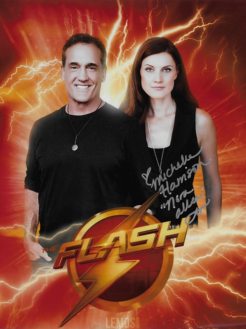 Michelle Harrison signed 8X10 Flash with Shipp