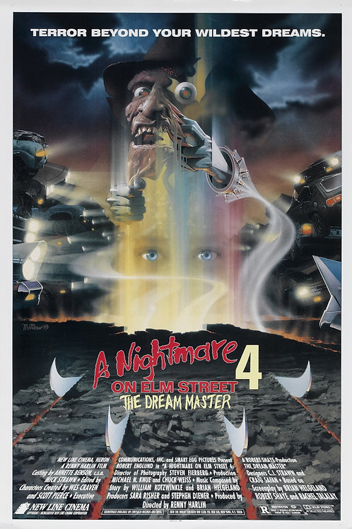 11X17 A Nightmare on Elm Street 4: The Dream Master Poster - Signed by up to8