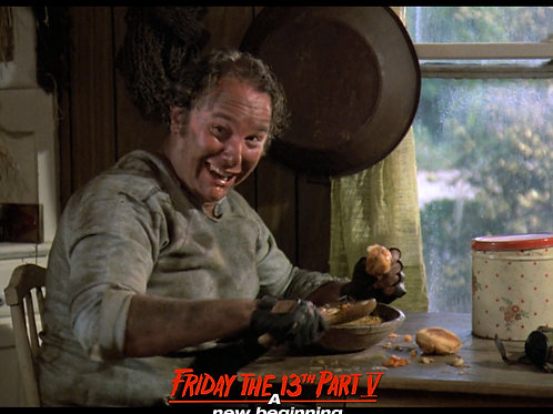 Ron Sloan as Junior Friday the 13th Part 5 - Eating His Slop 8X10