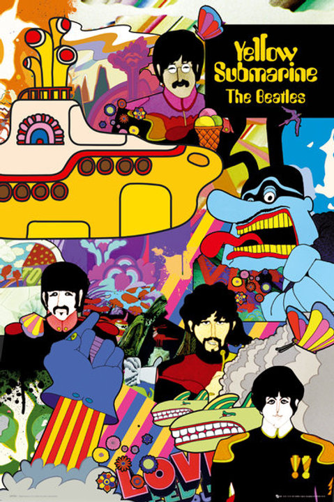 "The Beatles Yellow Submarine 24""X36"" Poster"