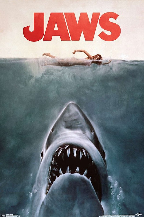 """Jaws 22""""X34"""" Poster"""