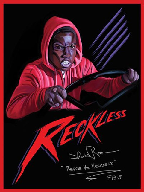 Shavar Ross Friday the 13th Part 5 - 18X24 Reggie the Reckless Poster Artwork