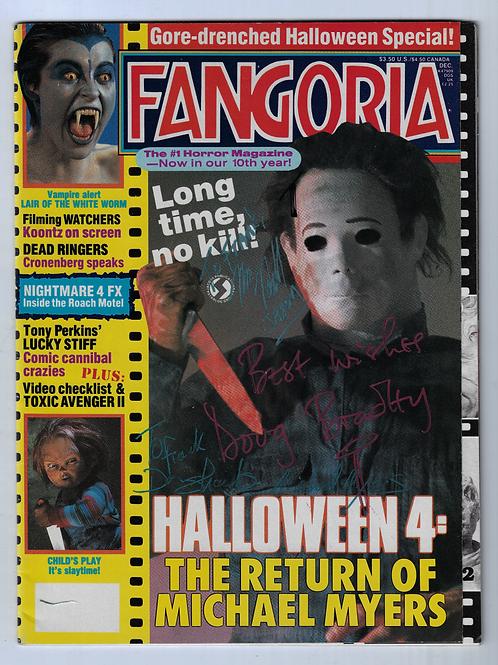 Fangoria Magazine Issue #79 December 1988 - Signed by Hodder, Bradley, Shanks