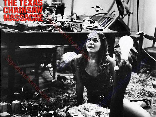 Teri McMinn Texas Chainsaw Massacre - Bone Room 10 B&W - 8X10
