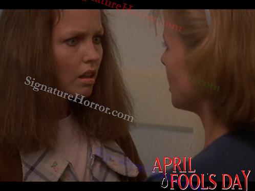Deborah Foreman - April Fool's Day - Hallway With Nan 1 - 8X10