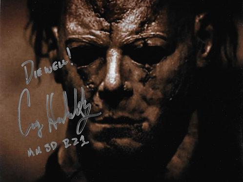 Casey Hendershot signed 8X10 Rob Zombie Halloween Closeup Darker