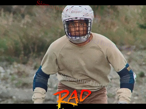Bill Allen as Cru Jones in RAD - Helmet 3 - 8X10