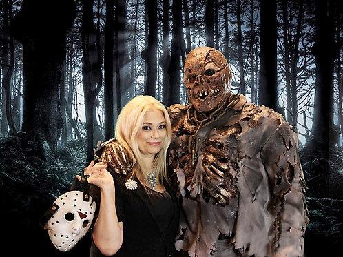 Lar Park-Lincoln with Kane Hodder in Full Costume Photo Shoot 8X10
