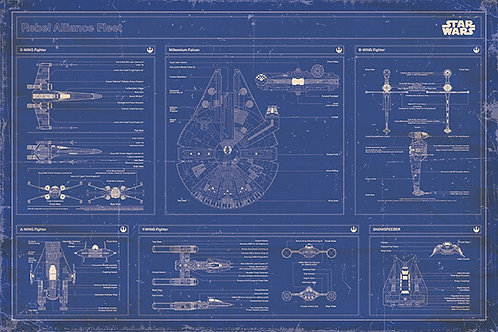 "Star Wars Blueprint 24""X36"" Poster"