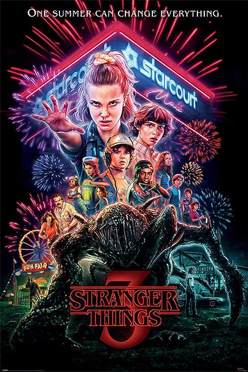"Stranger Things 3 One Sheet  24""X36"" Poster"