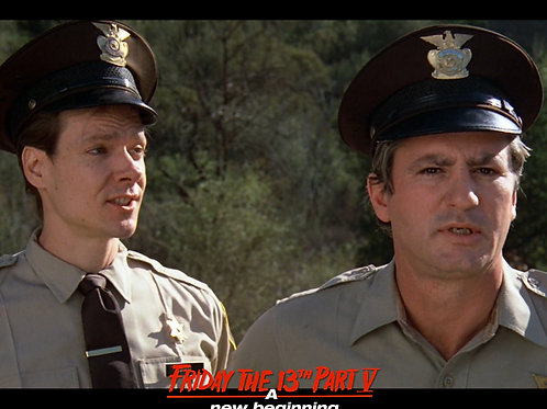 Marco St John as Sheriff Tucker Friday the 13th Part 5 - with Deputy 8X10