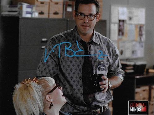 Nicholas Brendon signed 8X10 Criminal Minds with Garcia