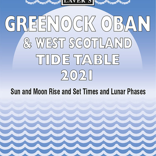 2021 Greenock, Oban & West Scotland Tide Table