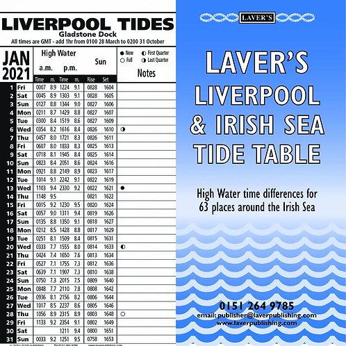2021 Liverpool & Irish Sea Tide Table Calendar